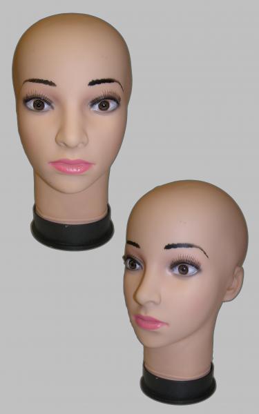 Голова женская с силиконовыми глазами