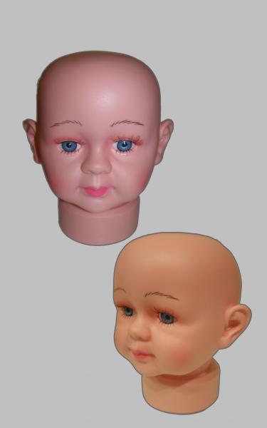 Манекен голова  детская ( младенца ).