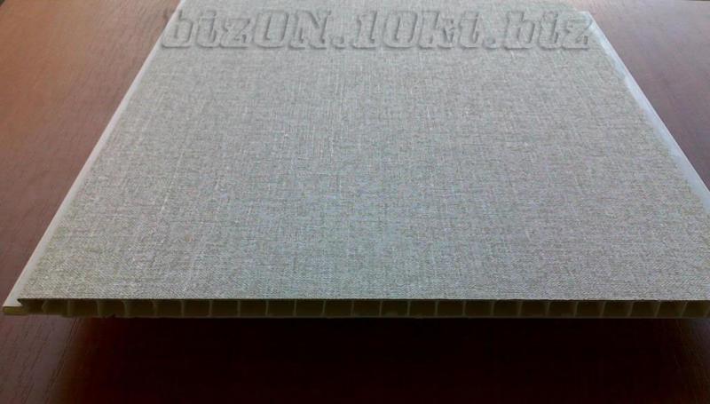 Фото Панели ПВХ «Лен Фисташковый»   Ламинированные  пластиковые панели ПВХ   «DECOMAX»