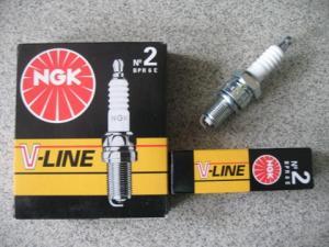Фото Свечи,лампы, предохранители Свечи NGK V-Line № 6 BPR5E ГАЗ (дв.406) 4 шт.