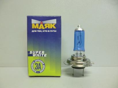 Лампа галоген. 12В H7 55Вт  Super White Маяк МАЯК 52720SW