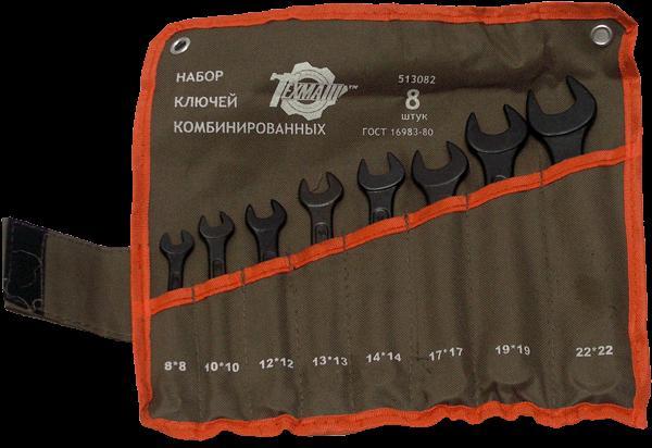 Набор ключей рожково-накидных (ТЕХМАШ) 8пр. (6-17)