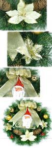 Фото Новогодний венок Новогодний венок 40 см с украшениями