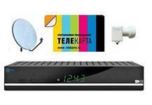 Комплект телекарта с ресивером Globo X8 HD