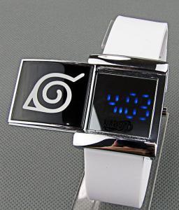 Фото Часы Часы с эмблемой Конохи светодиодные