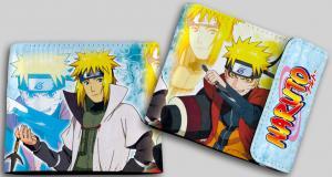 Фото Кошельки Бумажник с двойным изображением (Наруто и Минато1)