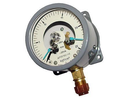 Манометр электроконтактный, манометр сигнализирующий, манометр электрический, манометр контактный.