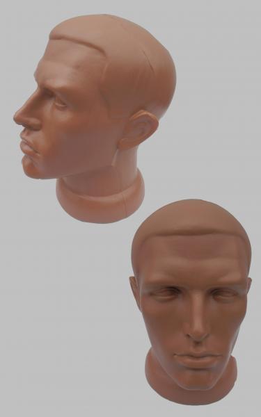 Манекен голова мужская.