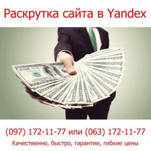 Фото Продвижение и оптимизация сайтов Раскрутка сайта в Yandex