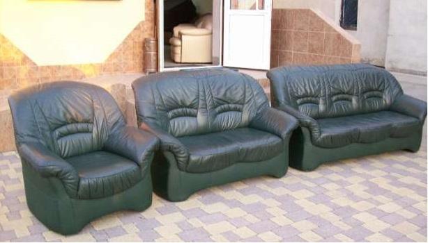 Комплект кожаной мягкой мебели (3+2+1)