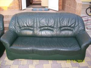 Фото Кожаная мягкая мебель Комплект кожаной мягкой мебели (3+2+1)