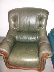 Фото Кожаная мягкая мебель Комплект кожаной мебели (3+1+1)