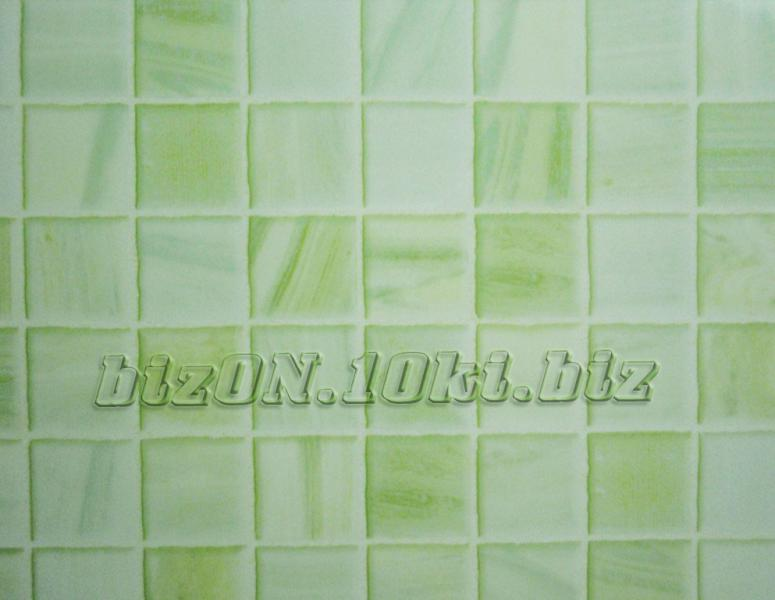 Снят с производства !!!    «Мозаика изумрудная»   (Арт. R22) пластиковые панели ПВХ (термоперевод) Riko