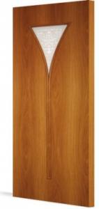 Фото Ламинированные Двери Межкомнатная дверь Тип С-4 художественное стекло