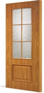 Фото Ламинированные Двери Межкомнатная дверь Тип С-5(о)-ОФ (остекленная с объемной филенкой)