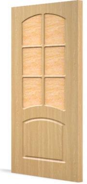 Дверь ПВХ  Кэрол ДО(остекленная)