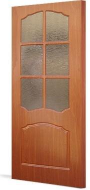 Дверь ПВХ  Лидия ДО(остекленная)