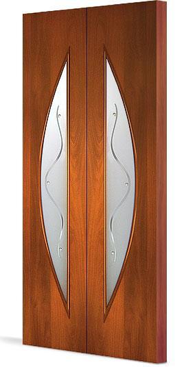 Межкомнатная складная дверь Тип С-6 (Ф) с фъюзингом