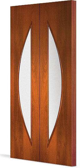 Межкомнатная складная дверь Тип С-6 (О) остекленная