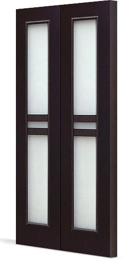 Межкомнатная складная дверь Тип С-23 (О) остекленная