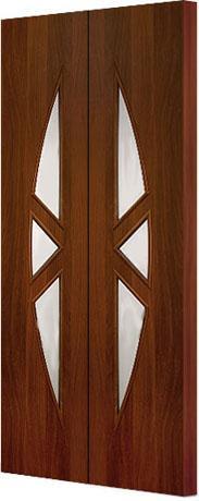 Межкомнатная складная дверь Тип С-1 (О) остекленная