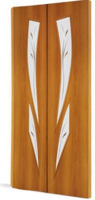 Межкомнатная складная дверь Тип С-2 (Ф) с фъюзингом