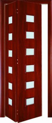 Межкомнатная складная дверь Тип С-9 (О) остекленная