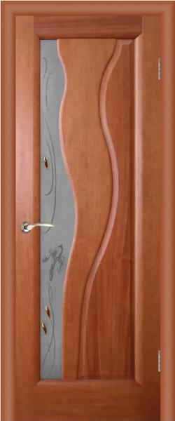 """Межкомнатная шпонированная дверь """"Торнадо """" (ХФ)"""