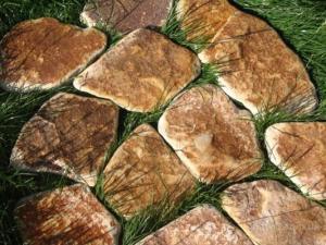 Фото  Камень песчаник окатанный