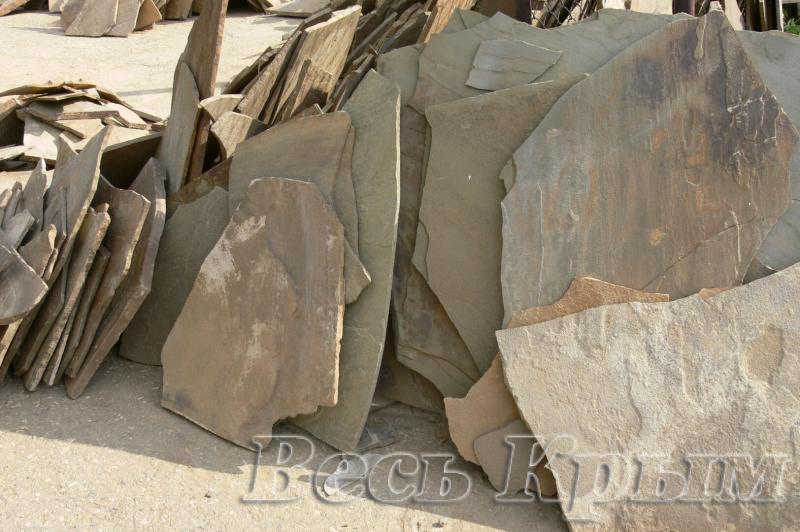 Камень песчаник серый