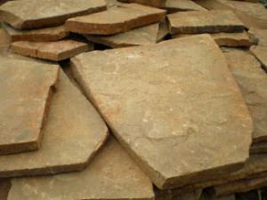 Фото  Камень песчаник желто коричневый