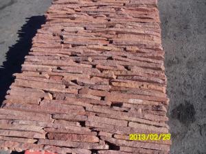 Фото  Фасадно-стеновая нарезка-торец красный