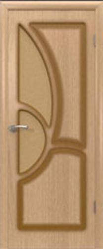 """Межкомнатная шпонированная дверь """"Греция"""" (О) остекленная"""