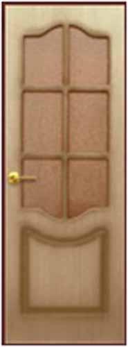 """Межкомнатная шпонированная дверь """"Классика"""" (О) остекленная"""