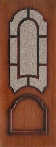 """Межкомнатная шпонированная дверь """"Кристалл"""" (О) остекленная"""