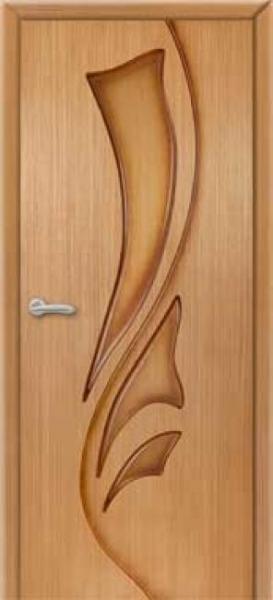 """Межкомнатная шпонированная дверь """"Лилия"""" (Г) глухая"""