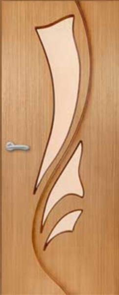 """Межкомнатная шпонированная дверь """"Лилия"""" (О) остекленная"""