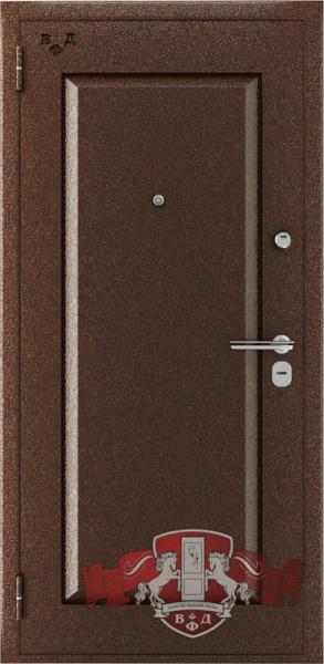 Металическая дверь ВФД «Комфорт» антик медь