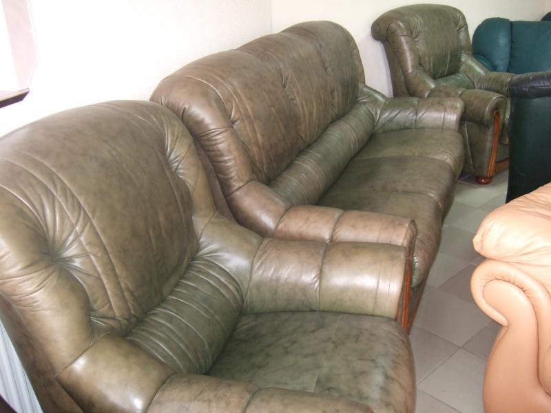 Комплект кожаной мебели (3+1+1)