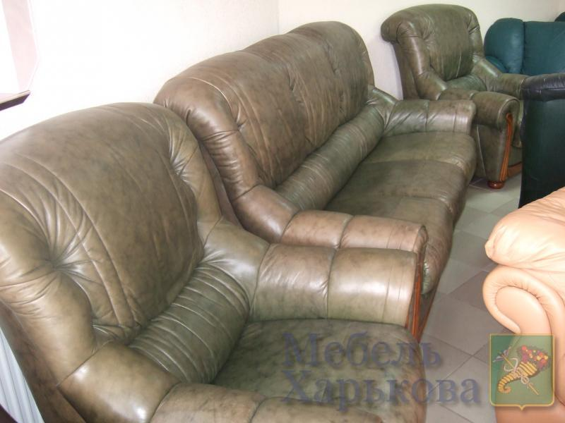 Комплект кожаной мебели (3+1+1) - Комплекты мягкой мебели в Харькове