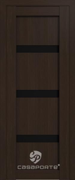 """Межкомнатная дверь Экошпон """"Верона 04"""" (О) триплекс черный"""