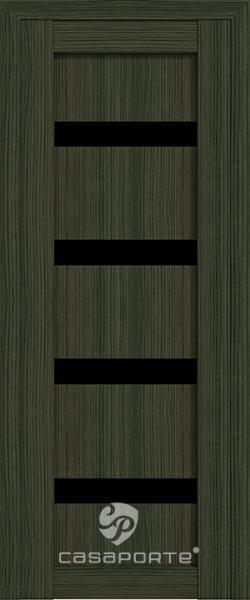 """Межкомнатная дверь Экошпон """"Верона 05"""" (О) триплекс черный"""