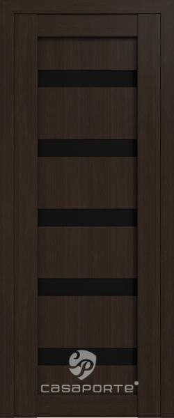 """Межкомнатная дверь Экошпон """"Верона 06"""" (О) триплекс черный"""
