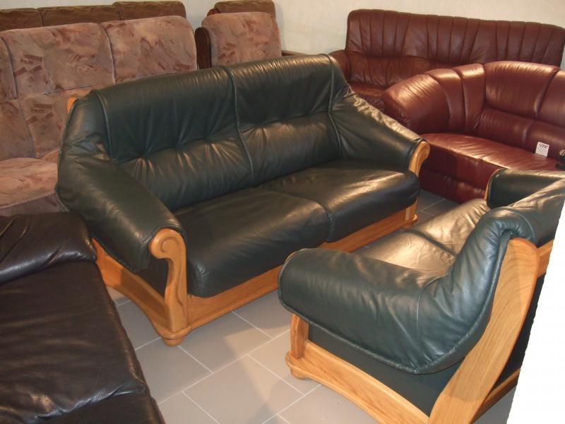 Комплект кожаной мягкой мебели (3+2)