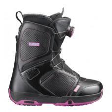 Ботинки для сноуборда SALOMON 2013-14 PEARL BOA BLACK/PK/BK