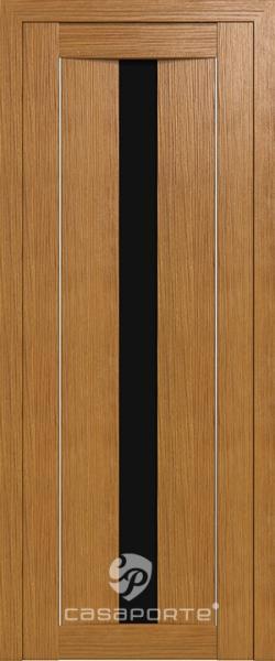 """Межкомнатная дверь Экошпон """"Сицилия 02"""" (О) Темный Триплекс"""