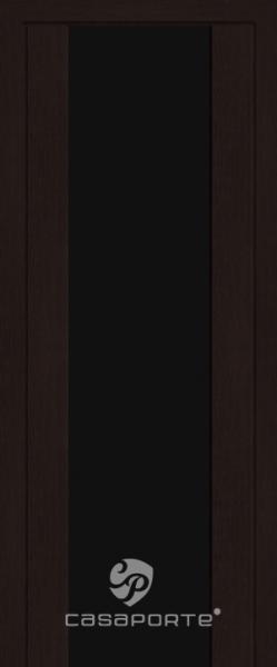"""Межкомнатная дверь Экошпон """"Сан Ремо 1"""" (О) Триплекс темный"""