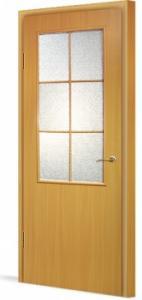 Фото Двери в комплекте с коробкой Эконом (строительные) Межкомнатная дверь ламинированная в комплекте 56 (О)