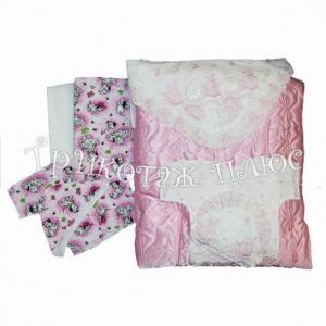Фото Для малышей, Комплекты на выписку зима Комплект  (мех) 8пр.розовый