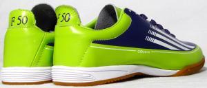 Фото БАМПЫ Бампы Adidas Adizero F50 (кожа) фиолетово-салатовые